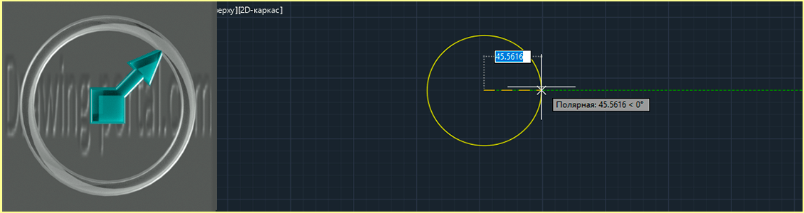 How to create circle in AutoCAD.