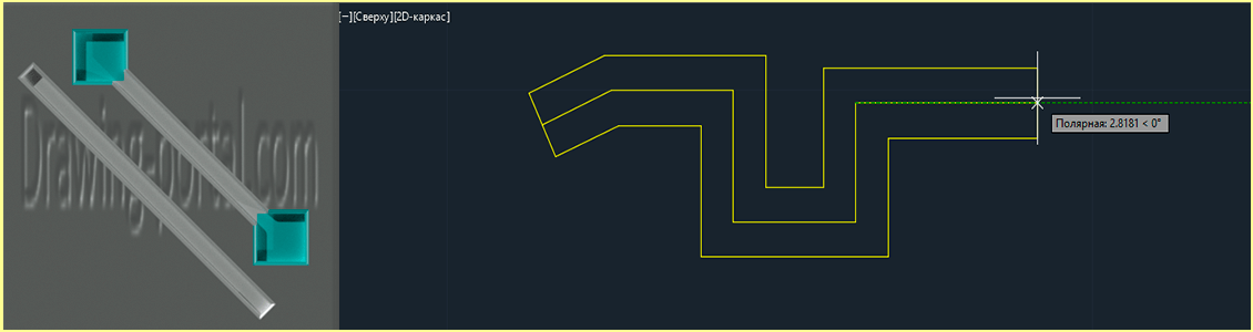 How to draw multiline AutoCAD.