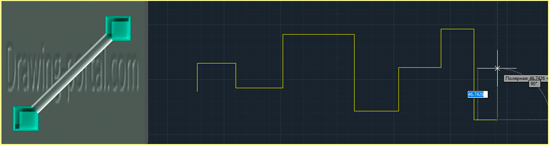 How to draw a straight line segment in AutoCAD object.
